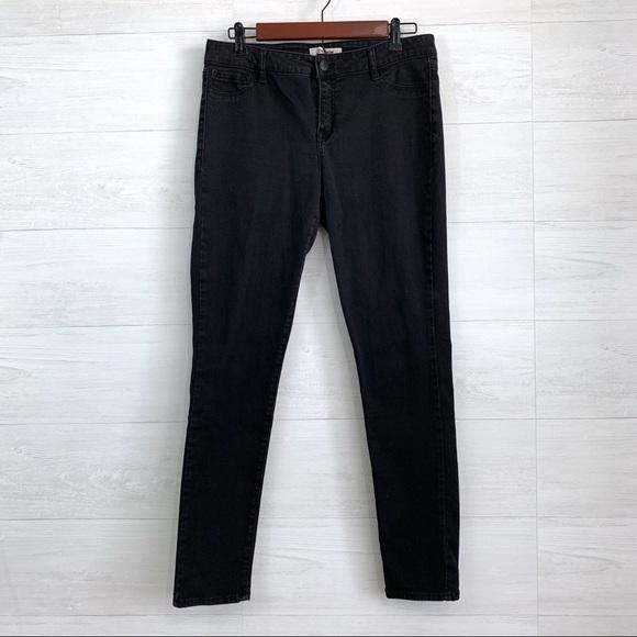 refuge Denim - Refuge Black Skinny Slim Leg Stretchy Jeans